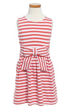This pink Kate Spade dress with a bow accent will be comfy and cute for the little one.