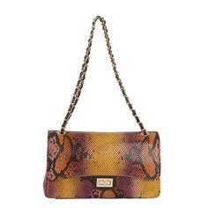 Marlafiji Vivien Python Effect multi coloured Italian leather Shoulder bag