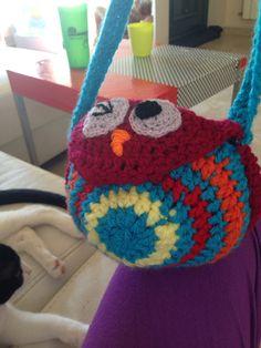 Bolso búho infantil. #crochet #ganchillo #onedayproject
