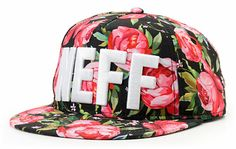 Neff Black Floral Snapback Hat at Zumiez