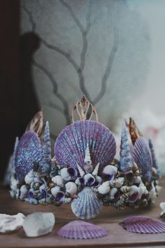 ☾ ☆☽ The first of the Wild & Free Jewelry Mermaid Crown Collection sprinkled in glitter reminiscent of fairy dust, because who doesn't love a little bit of magic? Handmade in California with real seas