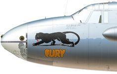 B-26-MA 40-1415 'Fury' flown by Lt George I Moleski of the 19th BS, 22nd BG, 'Silver Fleet'