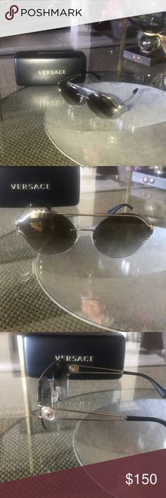 6242434be7705 Versace gold sunglasses Versace gold sunglasses VE 2184 Versace Accessories  Sunglasses