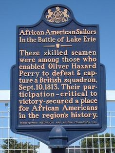 images of historical african american markers by state | African Americans in Battle of Lake Erie