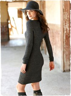 For fall, sweater dress and boots
