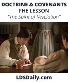 Doctrine and Covenants FHE Lesson - The Spirit of Revelation | LDS Daily Jesus Christ Lds, Fhe Lessons, Doctrine And Covenants, Circle Template, Joseph Smith, Holy Ghost, Guy Names, The Covenant