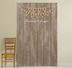 Add county-chic style to your wedding reception with this Just Hitched Photo Backdrop.  Can be used as a photo booth backdrop for photo ops for your guests or simply as a decor piece.