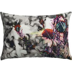 """I wanted to find some interesting pillows to provide extra back support for my new sofa. Positively loved the hand tinted photo silkscreen look of this one.   meadow 18""""x12"""" pillow in pillows at @CB2 $29.95"""