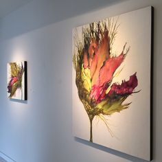 Installation views of encaustic art by Alicia Tormey Alcohol Ink Painting, Alcohol Ink Art, Encaustic Painting, Abstract Flowers, Painting Inspiration, Resin Art, Art Lessons, Flower Art, Art Projects