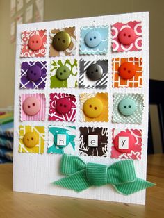 I love this gorgeous button card by PagebyPaige/Etsy