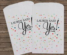 Bridal Shower Favors Candy Bar Bags Wedding Candy by StampsJubilee