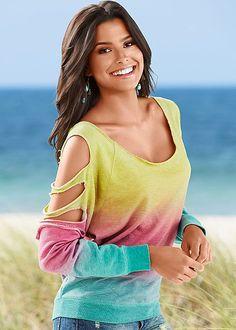 Women's Slit sleeve sweatshirt by VENUS