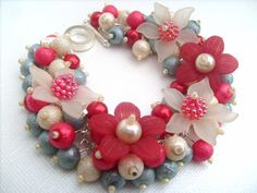 Beautiful Handmade flower bracelet!  WANT IT!