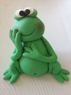 edible frog cake topper by pinkaliciousshop on Etsy
