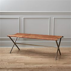 ♡ Leather Director's Bench ♡ This bench  from @cb2pins  would be perfect at the end of your bed!
