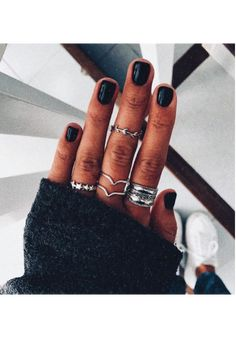 Mix and match Dainty Jewelry, Cute Jewelry, Hair And Nails, My Nails, Hand Accessories, Nail Ring, Cute Rings, Mani Pedi, Nail Inspo