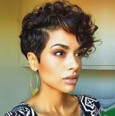 Curly Hairstyles 21 Fabulous Curly Pixie Cuts & Wavy Pixie Cuts for Short Hair Short Curly Pixie Cuts & Wavy Pixie Cuts for black Women Curly Pixie Haircuts, Curly Pixie Cuts, Short Curly Wigs, Straight Hairstyles, Pixie Hairstyles, Black Short Hairstyles, Short Wavy, Layered Hairstyles, Short Shag
