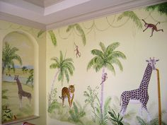 great ! Jungle mural by http://muralmax.com  #nursery #design