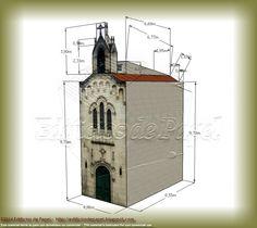 """Maqueta de Papel 1485: Capilla del Corregidor, serie Ourense - """"Corregidor"""" Chapel, Ourense series"""