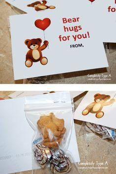Bear Hug Valentine for kids