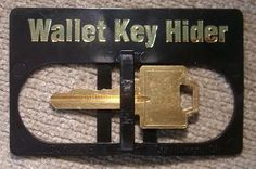 Wallet Key Hider. I need two of these! One for my car and my house.