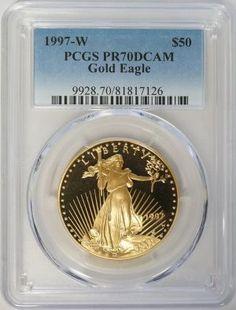 1997 W $50 Proof American Gold Eagle 1 oz PCGS PR70DCAM