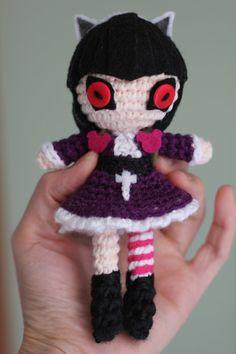 PATTERN: Goth Annie Crochet Amigurumi Doll