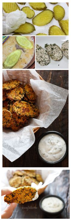 Oven fried pickles with ranch dipping sauce