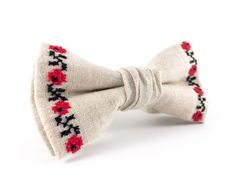 Boyfriend Gifts  Mens Accessories Husband Gift For Man Bow Tie Linen Bowties Ukrainian Embroidery Beige Bowtie by CutieTieShop on Etsy https://www.etsy.com/listing/241181255/boyfriend-gifts-mens-accessories-husband