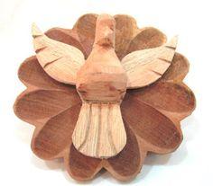 Ateliê Le Mimo: RELIGIOSO  Mandalinha divino Peça em madeira