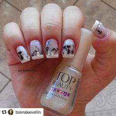 """187 Me gusta, 3 comentarios - All About Nails (@allaboutnailsofficial) en Instagram: """"@brenakevellin ・・・ Mais um click dessa esmaltação de Gatinho 😻❤ Esmalte: topbeauty - Chuva De Prata…"""""""