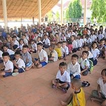 """Cambodian children at the Place of Rescue Orphanage have donated $900 to Alberta flood relief. (Reminds me of """"My heart will not sit down"""""""