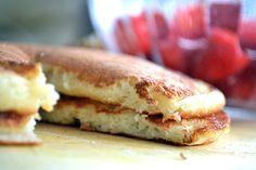 American Pancakes met verse aardbeien