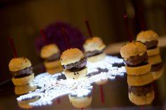 Canapé - Mini Venison Burgers on our unique displayware #canapés