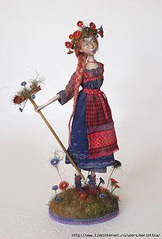 Паперклэй (пластика) - как создать куклу - МК от Анны Зуевой.