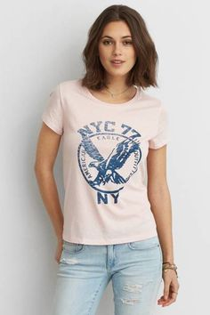AEO Graphic Favorite T  by AEO | Absolutely your go-to, favorite T. Inspire your look with
