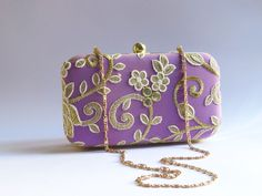 MAUVE PURPLE CLUTCH / lilac box clutch  Wedding clutch/ bridesmaid clutch/ floral  minaudiere, floral pattern embroidered prom clutch, party by iThinkFashion on Etsy https://www.etsy.com/listing/289092341/mauve-purple-clutch-lilac-box-clutch