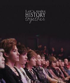 Exo// I;m gonna cry T^T We Exo L's are here to support you Kris, Luhan and Tao Tao Exo, Baekhyun Chanyeol, Kai, K Pop, Exo 12, Exo Group, Exo Album, Exo Official, Exo Lockscreen