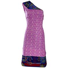 Vintage Gianni Versace Couture 1990s One Shoulder Mixed Media Bodycon Star Dress…