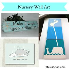 whale nursery art