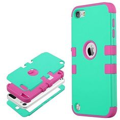 iPod Touch 5 case, ULAK iPod Touch 6 Case Hybrid 3 Layer Silicone ...