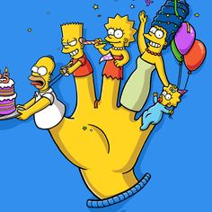 the Simpsons 25th Anniversary on Behance