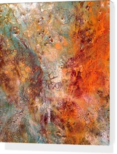 Tangerine Infusion by Art by Sha - Stretched Canvases - $80.00