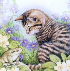 Art Of Debbie Cook | Painting of kittens. Debbie Cook