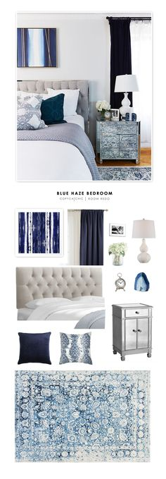 This sophisticated blue master bedroom by Margo & Me is recreated for less… by @audreycdyer
