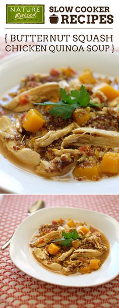 This Butternut Squash Chicken Quinoa Soup is one slow cooker recipe we could eat every day! | NaturedRaised Farms Recipe
