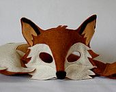 For a maid Marian costume.Xander Fox Mask and Tail Pretend Play Costume by… Renard Costume, Fox Costume, Felt Fox, Felt Owls, Maid Marian Costume, Halloween Kids, Halloween Costumes, Purim Costumes, Adult Costumes