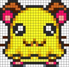 Penélope Jamón Jamón Perler Bead Pattern / Bead Sprite