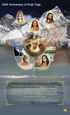 Picture: 150 years of Kriya Yoga #Yogananda O thou king of the infinite i behold thee in Samadi.