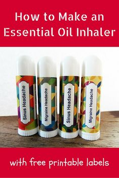 How to Make an Essential Oil Inhaler - with free printable labels